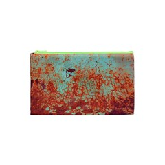 Orange Blue Rust Colorful Texture Cosmetic Bag (xs) by Nexatart