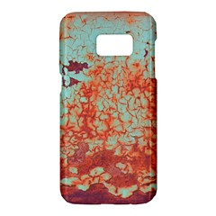 Orange Blue Rust Colorful Texture Samsung Galaxy S7 Hardshell Case