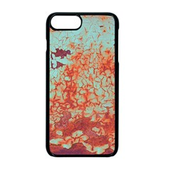 Orange Blue Rust Colorful Texture Apple Iphone 7 Plus Seamless Case (black) by Nexatart