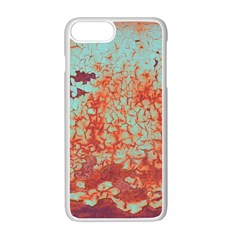 Orange Blue Rust Colorful Texture Apple Iphone 7 Plus Seamless Case (white)