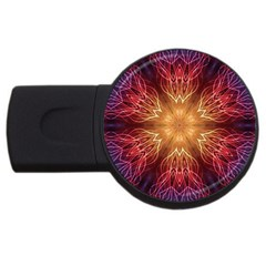 Fractal Abstract Artistic Usb Flash Drive Round (2 Gb)