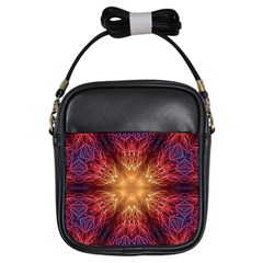 Fractal Abstract Artistic Girls Sling Bags by Nexatart