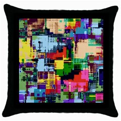 Color Abstract Background Textures Throw Pillow Case (black)