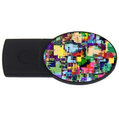 Color Abstract Background Textures Usb Flash Drive Oval (2 Gb)