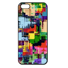 Color Abstract Background Textures Apple Iphone 5 Seamless Case (black)