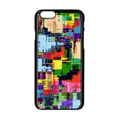 Color Abstract Background Textures Apple Iphone 6/6s Black Enamel Case