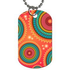 Background Texture Mosaic Pink Dog Tag (one Side) by Nexatart