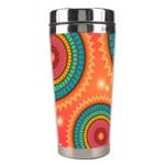 Background Texture Mosaic Pink Stainless Steel Travel Tumblers Left