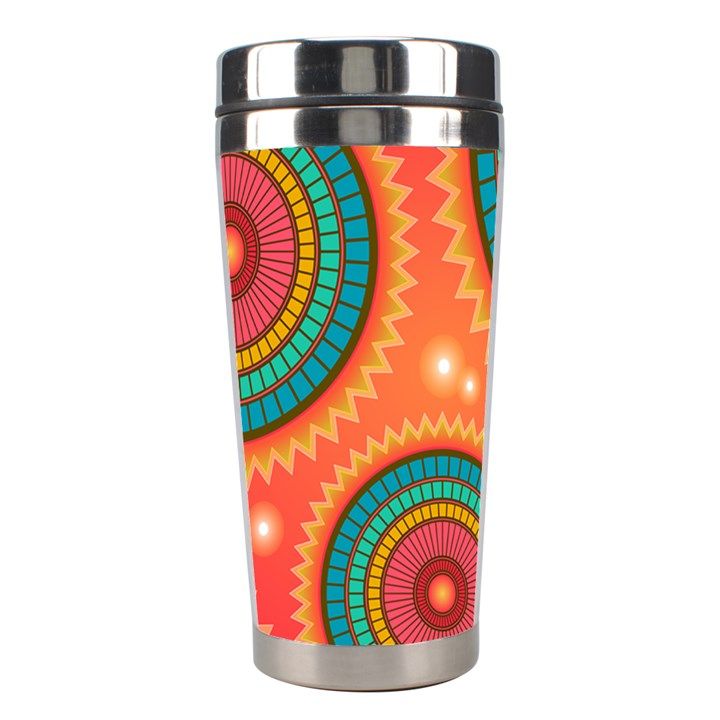Background Texture Mosaic Pink Stainless Steel Travel Tumblers