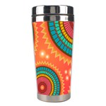 Background Texture Mosaic Pink Stainless Steel Travel Tumblers Center