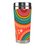 Background Texture Mosaic Pink Stainless Steel Travel Tumblers Right
