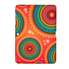 Background Texture Mosaic Pink Samsung Galaxy Tab 2 (10 1 ) P5100 Hardshell Case  by Nexatart
