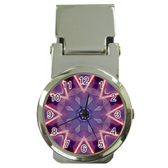 Abstract Glow Kaleidoscopic Light Money Clip Watches