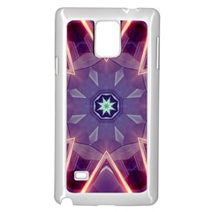 Abstract Glow Kaleidoscopic Light Samsung Galaxy Note 4 Case (white)