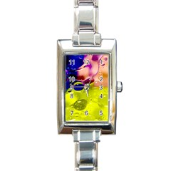 Abstract Bubbles Oil Rectangle Italian Charm Watch by Nexatart