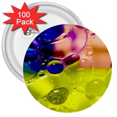 Abstract Bubbles Oil 3  Buttons (100 Pack)  by Nexatart