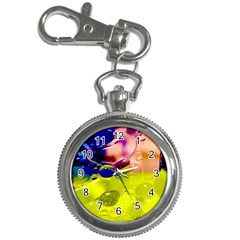 Abstract Bubbles Oil Key Chain Watches by Nexatart