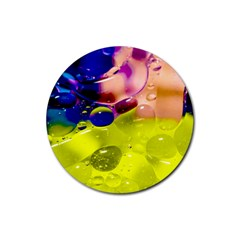 Abstract Bubbles Oil Rubber Round Coaster (4 Pack)
