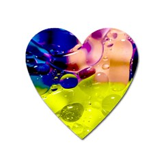 Abstract Bubbles Oil Heart Magnet by Nexatart