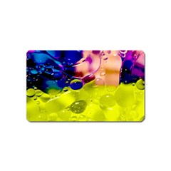 Abstract Bubbles Oil Magnet (name Card) by Nexatart
