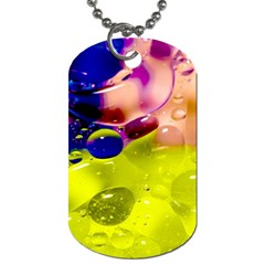 Abstract Bubbles Oil Dog Tag (one Side) by Nexatart