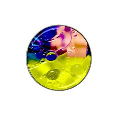 Abstract Bubbles Oil Hat Clip Ball Marker by Nexatart