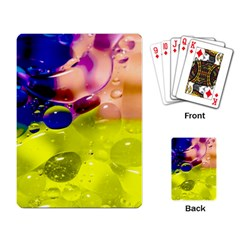 Abstract Bubbles Oil Playing Card by Nexatart