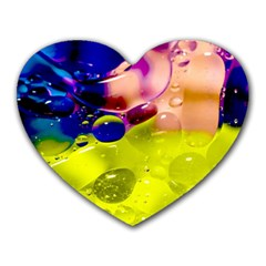 Abstract Bubbles Oil Heart Mousepads by Nexatart