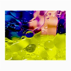 Abstract Bubbles Oil Small Glasses Cloth (2 Side) by Nexatart