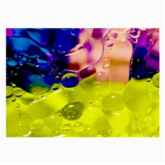 Abstract Bubbles Oil Large Glasses Cloth by Nexatart