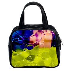 Abstract Bubbles Oil Classic Handbags (2 Sides) by Nexatart