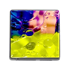 Abstract Bubbles Oil Memory Card Reader (square) by Nexatart