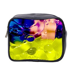 Abstract Bubbles Oil Mini Toiletries Bag 2 Side by Nexatart