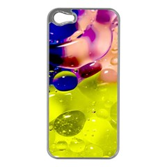 Abstract Bubbles Oil Apple Iphone 5 Case (silver)
