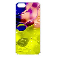 Abstract Bubbles Oil Apple Iphone 5 Seamless Case (white) by Nexatart