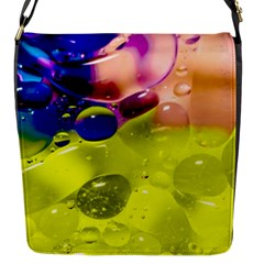 Abstract Bubbles Oil Flap Messenger Bag (s)