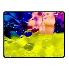 Abstract Bubbles Oil Double Sided Fleece Blanket (small)