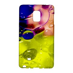 Abstract Bubbles Oil Samsung Galaxy Note Edge Hardshell Case by Nexatart