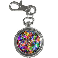 Background Color Pattern Structure Key Chain Watches
