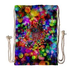 Background Color Pattern Structure Drawstring Bag (large) by Nexatart