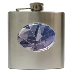 Abstract Background Abstract Minimal Hip Flask (6 Oz)