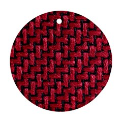 Fabric Pattern Desktop Textile Round Ornament (two Sides)