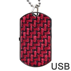 Fabric Pattern Desktop Textile Dog Tag Usb Flash (one Side) by Nexatart