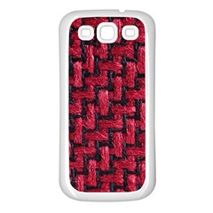 Fabric Pattern Desktop Textile Samsung Galaxy S3 Back Case (white) by Nexatart