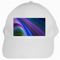 Background Abstract Curves White Cap by Nexatart