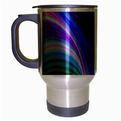 Background Abstract Curves Travel Mug (silver Gray) by Nexatart