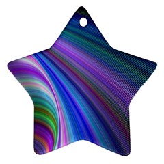 Background Abstract Curves Star Ornament (two Sides)