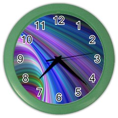 Background Abstract Curves Color Wall Clocks