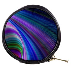 Background Abstract Curves Mini Makeup Bags