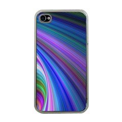 Background Abstract Curves Apple Iphone 4 Case (clear)
